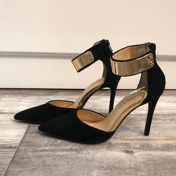 5eb9f048bd7 Gianni Bini Vanessah Black pumps shoes Sz 9